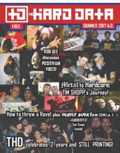 Download The Hard Data Issue 12, featuring Rob GEE, Tim Shopp, How to Throw a Rave, and Deadly Buda Comix part 5!