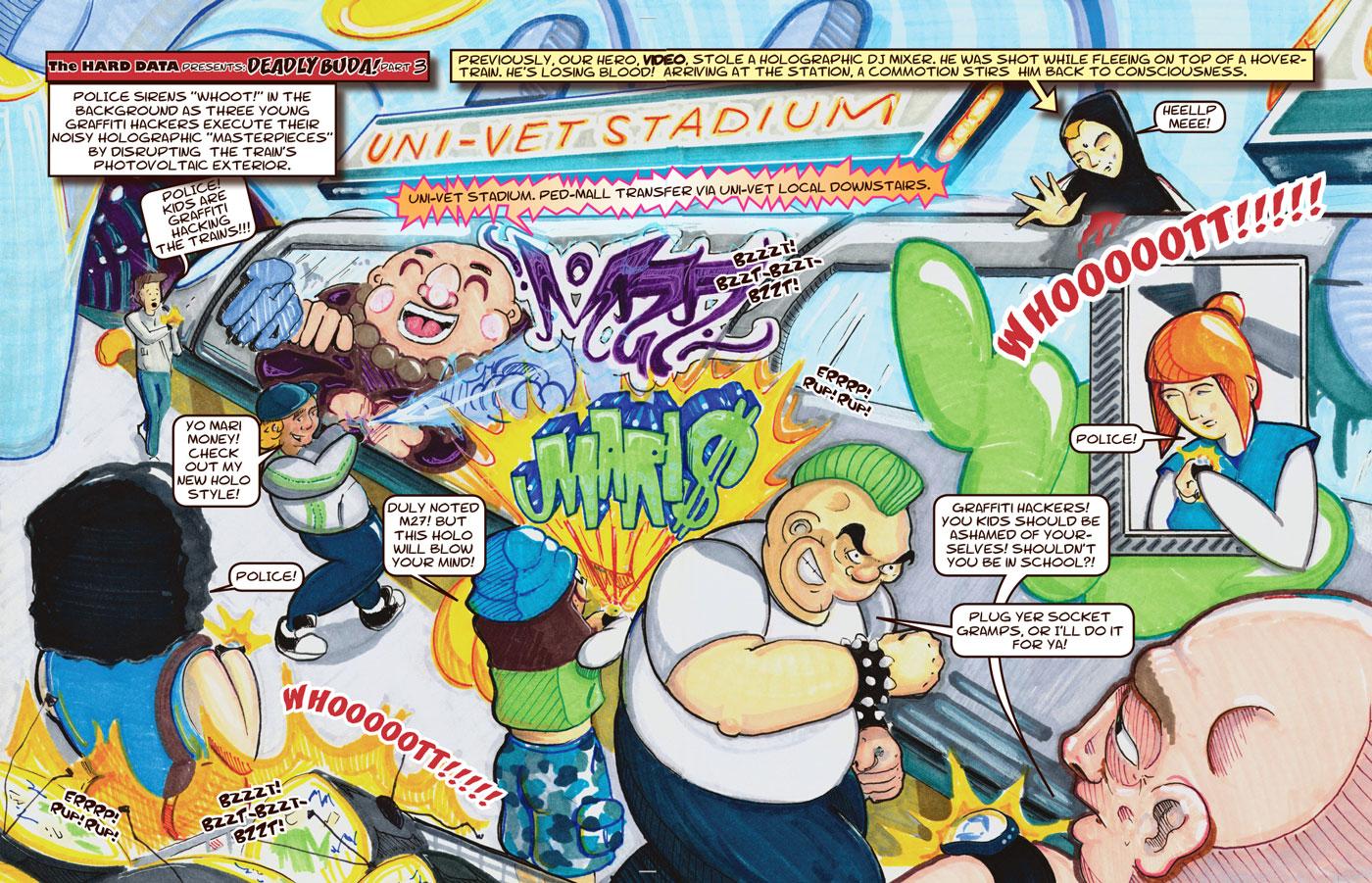 deadly buda rave comics part 3 the hard data